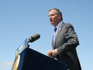 Mayor Bill de Blasio. (Photo: Vanessa Ogle)