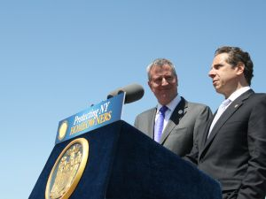 Mayor Bill de Blasio with Gov. Andrew Cuomo. (Photo: Vanessa Ogle)
