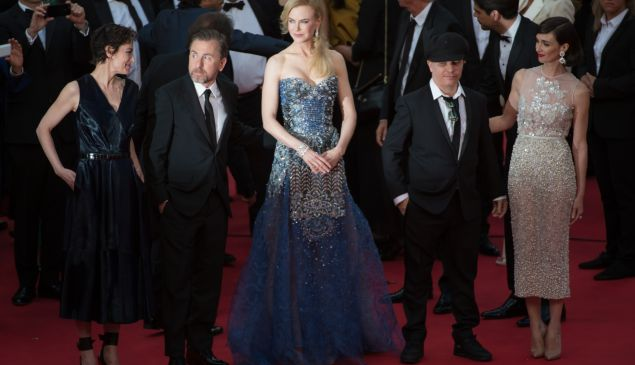 Tim Roth, Nicole Kidman, Olivier Dahan and Paz Vega at the premiere of Grace of Monaco. (Photo via Getty Images)