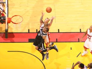 A Brooklyn Nets-Miami Heat game in early April. (Photo: Nathaniel Butler/Getty)