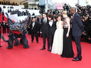 The cast of How to Train Your Dragon 2 in Cannes.