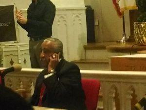 Congressman Charlie Rangel at this evening's debate.