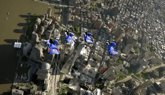 Bird's Eye Phew! Wingsuit-Wearing Adrenaline Junkies Film Manhattan Plunge