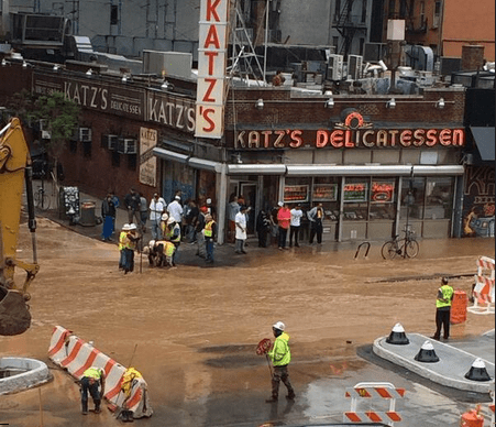 Soaked Pastrami: Houston St. Is Under Water
