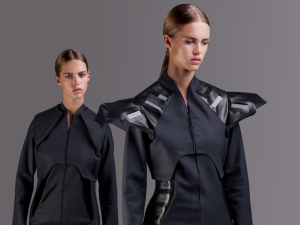 Pauline van Dongen, a Dutch designer that makes tech-influenced couture, will be among the startups visiting New York in June to pitch their companies. (Photo via Pauline van Dongen)
