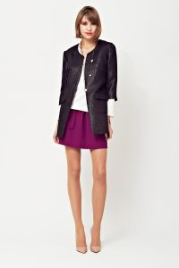 Leather jacket, skater skirt, A/W 2014