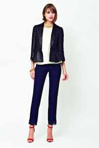 Fitted leather jacket, slim pants A/W2014