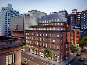 A rendering of 33 East 74th's exterior.