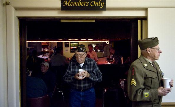 A VFW Hall, part of a dying breed. (Photo By Tom Williams/Roll Call/Getty Images)