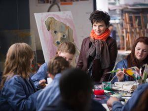 Juliette Binoche in <em>Words and Pictures</em>.
