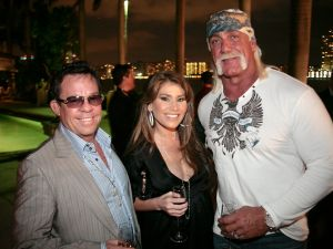 James and Loren Ridinger with Hulk Hogan. (Patrick McMullan)