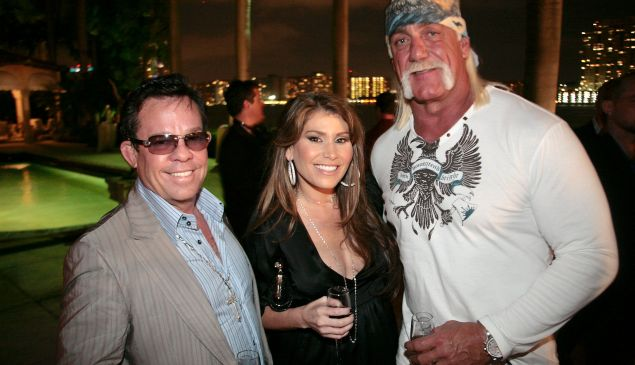 James and Loren Ridinger with Hulk Hogan. (Patrick McMullan)