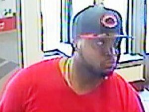 Surveillance image of Jamaal Valentine before one of his heists.