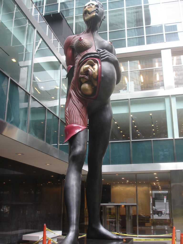 33-Foot Tall, 26,000 lb. Nude Pregnant Woman Comes to Old Westbury, L.I.