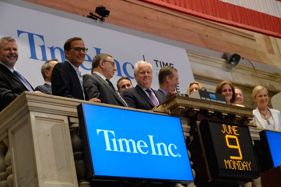 Morning Media Mix: Time Inc. Is on Its Own in the Real World