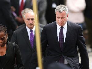 Mayor Bill de Blasio with NYPD Commissioner Bill Bratton. (Photo: Spencer Platt/Getty Images)