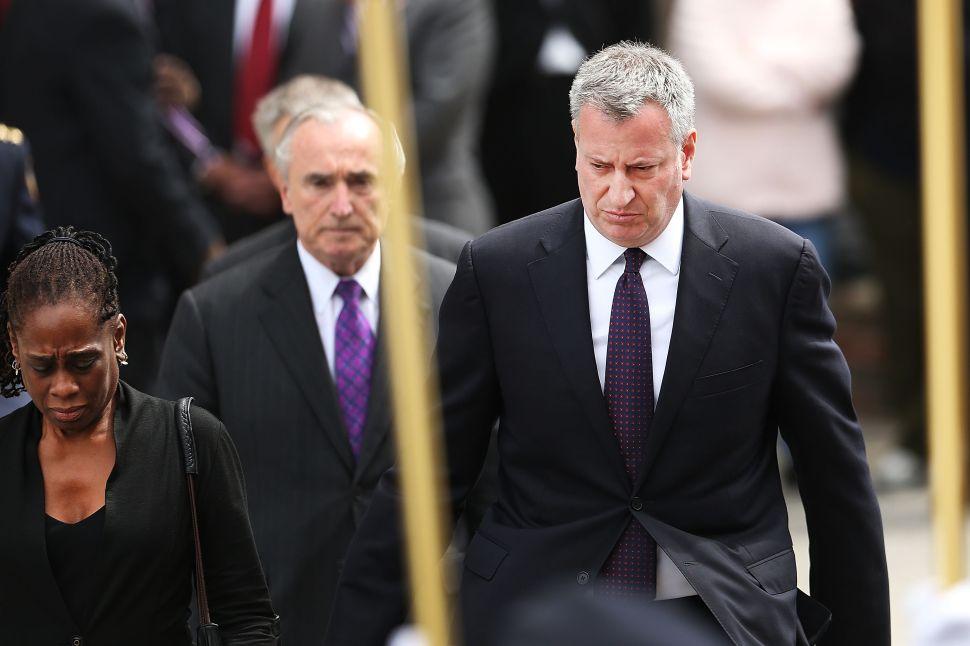 Bill de Blasio Slams 'Fear-Mongering' Police Union DNC Letter