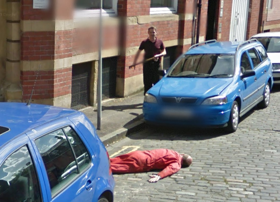 Gotcha! Faux Murder Scene Spotted on Google Street View Sparks Official Investigation