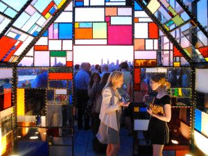 The chapel atop the Wythe was the scene of the party (Photo: Matt Mullen)
