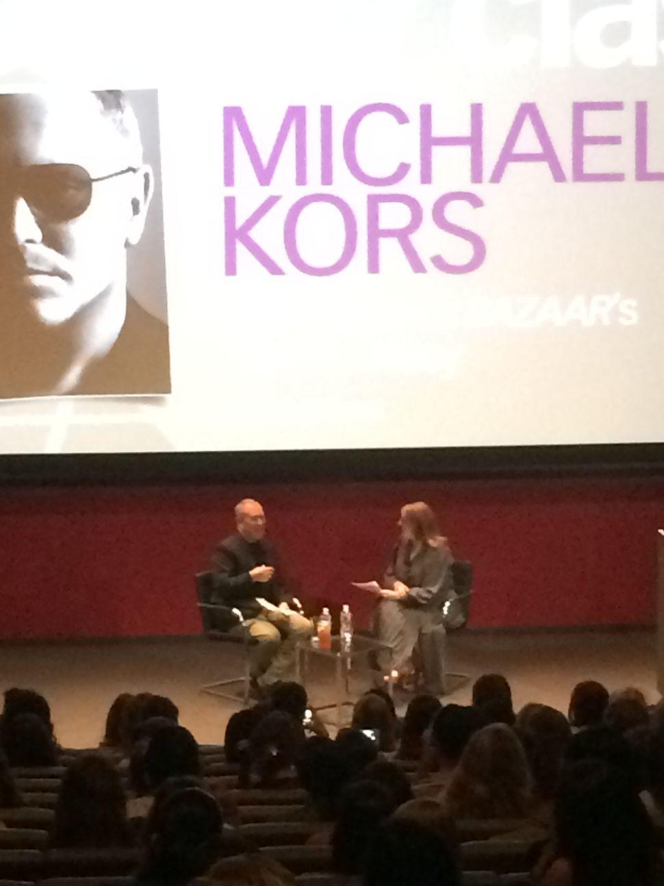 Glenda Bailey and Michael Kors Share Memories and Career Tips