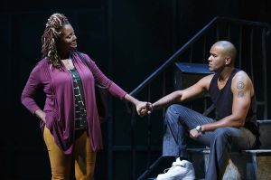 Tonya Pinkins and Christoper Jackson in 'Holler If Ya Hear Me.'