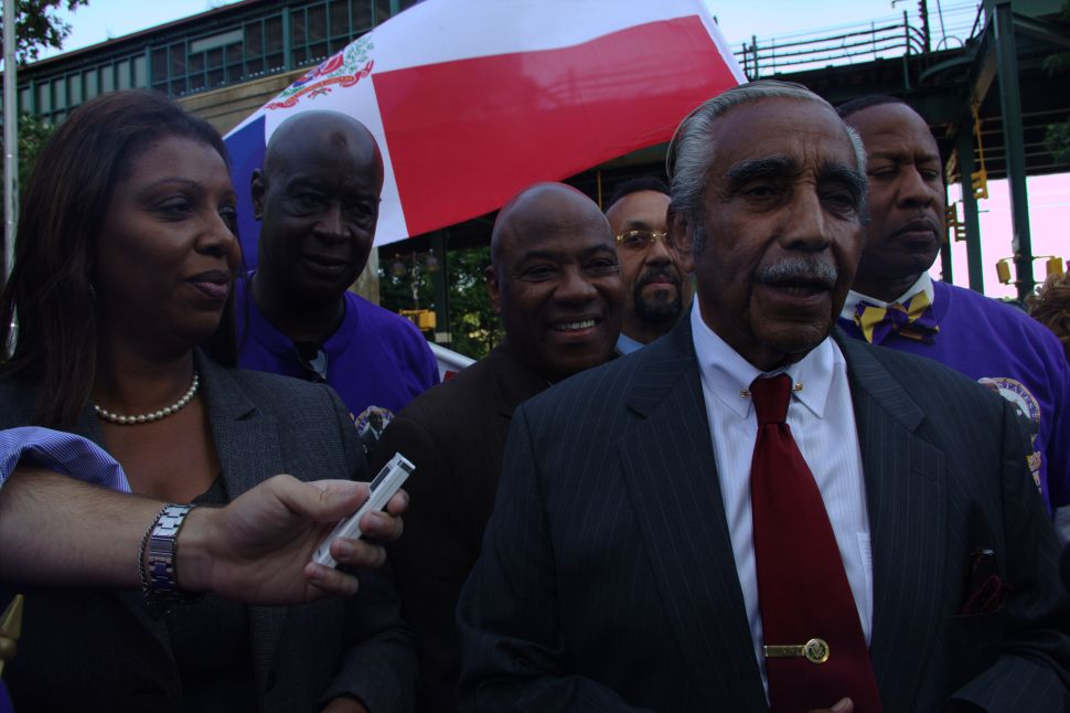 Charlie Rangel Late and Confused at Last Campaign Stop