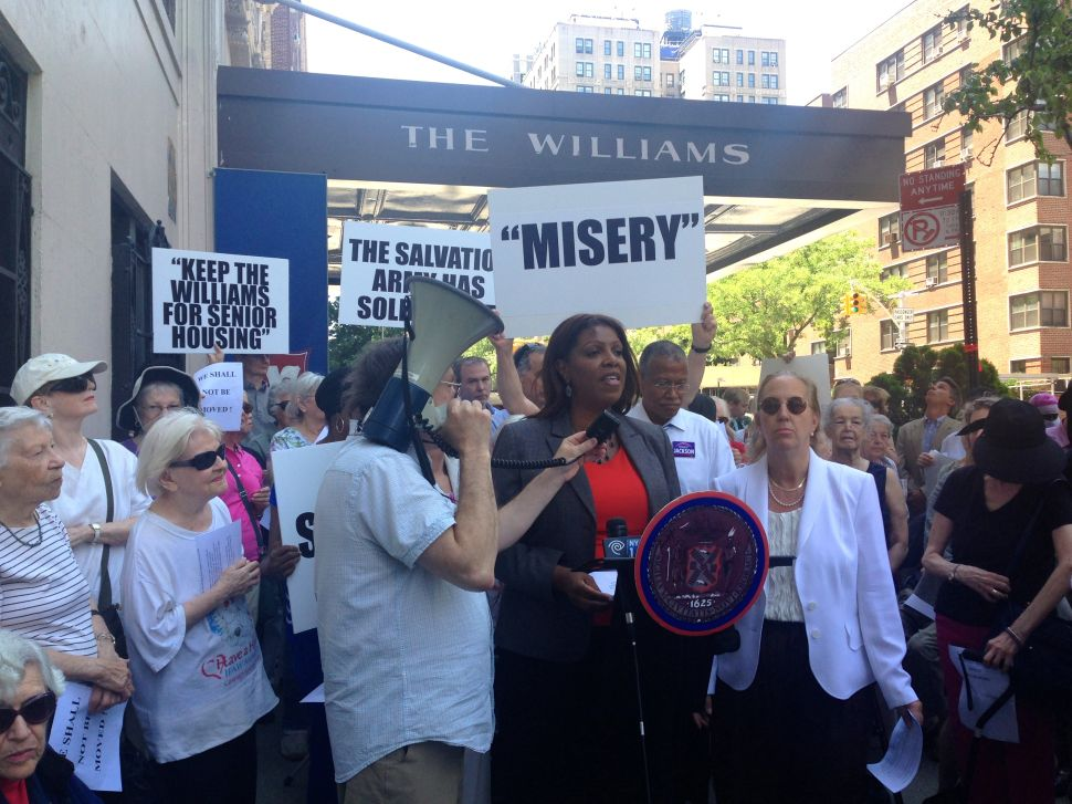 Pols Rally Against the Salvation Army's Sale of Senior Residence