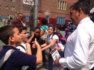 Adriano Espaillat on the last day of the campaign trail.