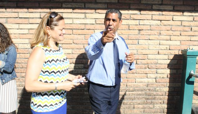 State Senator Adriano Espaillat with Council Speaker Melissa Mark-Viverito. (Photo: Ross Barkan)