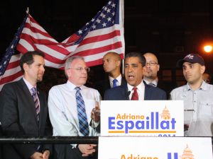 State Senator Adriano Espaillat on election night in 2014. (Photo: Ross Barkan for Observer)