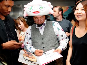 Murakami at the screening.