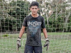 NAME: Cesar Gonzalez AGE: 14 CLUB: YWAM Boyz POSITION: Goalie HOMETOWN: Young Bank, Belize