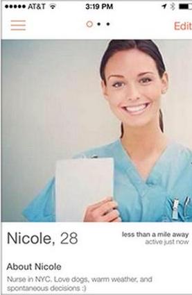 Fake Tinder Profile Nurse Nicole Raises Awareness on Men's Health