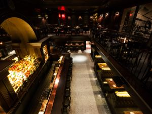 """The new NoMad bar seeks to achieve what Leo Robitschek calls a """"peekaboo"""" effect."""