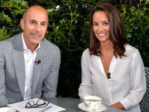 Matt and Pippa had tea on Today. (Photo by: Anthony Harvey/NBC)
