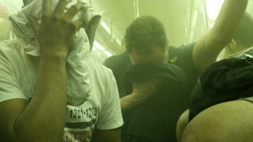 Updated: 7 Train Hotbox Filled With Smoke After Rail Fire