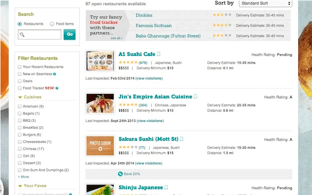 New Browser Tool Reveals Health Ratings of Your Fave Seamless Restaurants