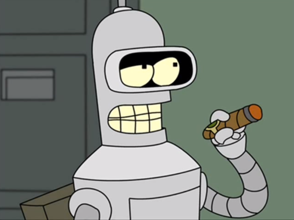 Bender from Futurama Creeps Out State Police