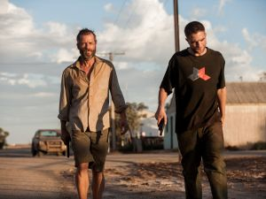 Guy Pearce and blank in The Rover.
