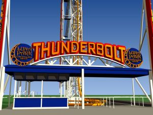 The new Thunderbolt station in Coney Island. (NYCEDC)