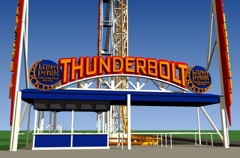 Coney Island's Thunderbolt Fires Off on Saturday