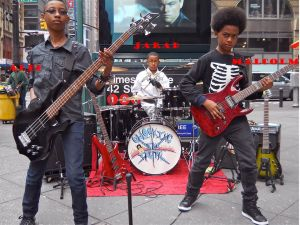 Unlocking the Truth in front a subway that they probably should ride without adult supervision. (Photo: Unlocking the Truth, Facebook)