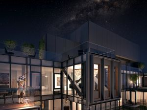 A rendering of the penthouse exterior. (MARCH Made)