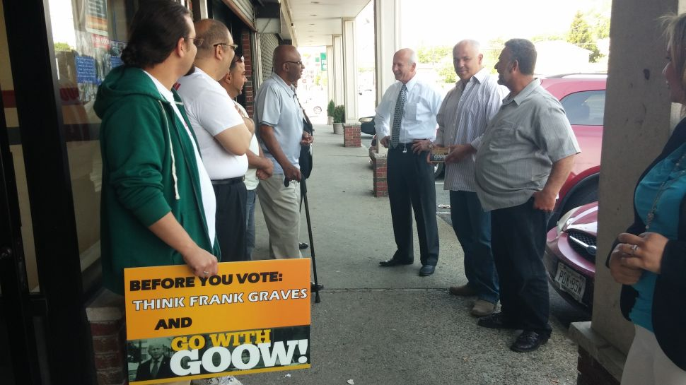 Goow votes at the crack of dawn; hits the streets in Paterson