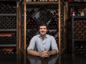 Tim Farrell in the back room at Brooklyn Wine Exchange. (Photo: Sasha Maslov)