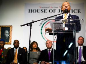 Rev. Al Sharpton at a speech last year. (Photo: Christopher Gregory/Getty Images)