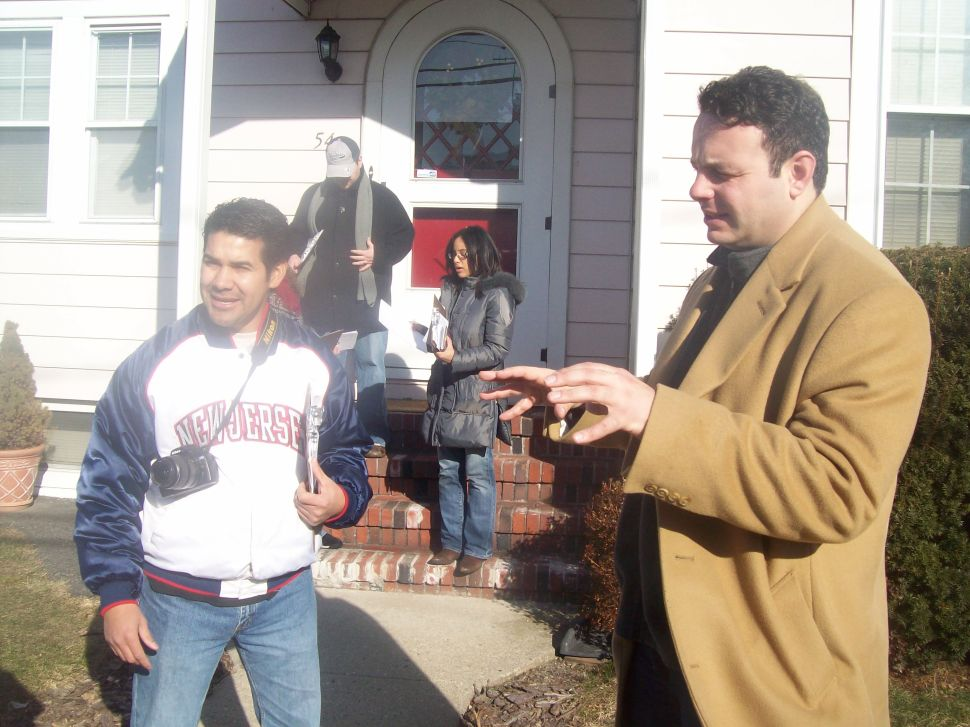 In a battle between raw demographics and door-to-door face time, Sayegh gambles on the latter