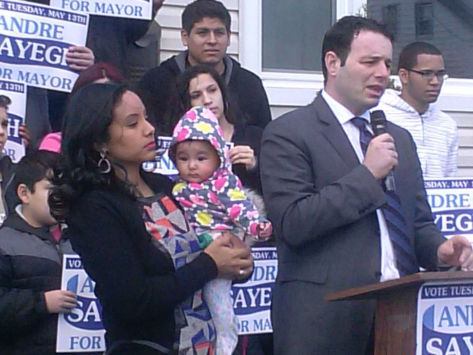 Kicking off in Paterson, mayoral candidate Sayegh underscores seriousness of cause