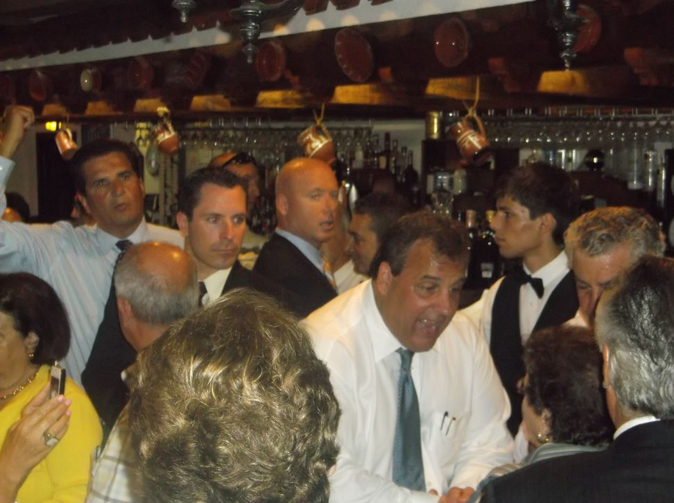 Christie campaigns in the Ironbound with Essex Democrats DiVincenzo and Fontoura