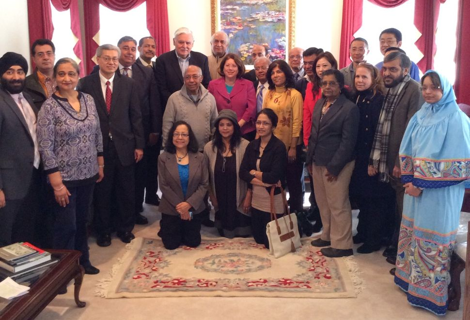Asian-American allies of Greenstein rally with show of support for CD12 candidate